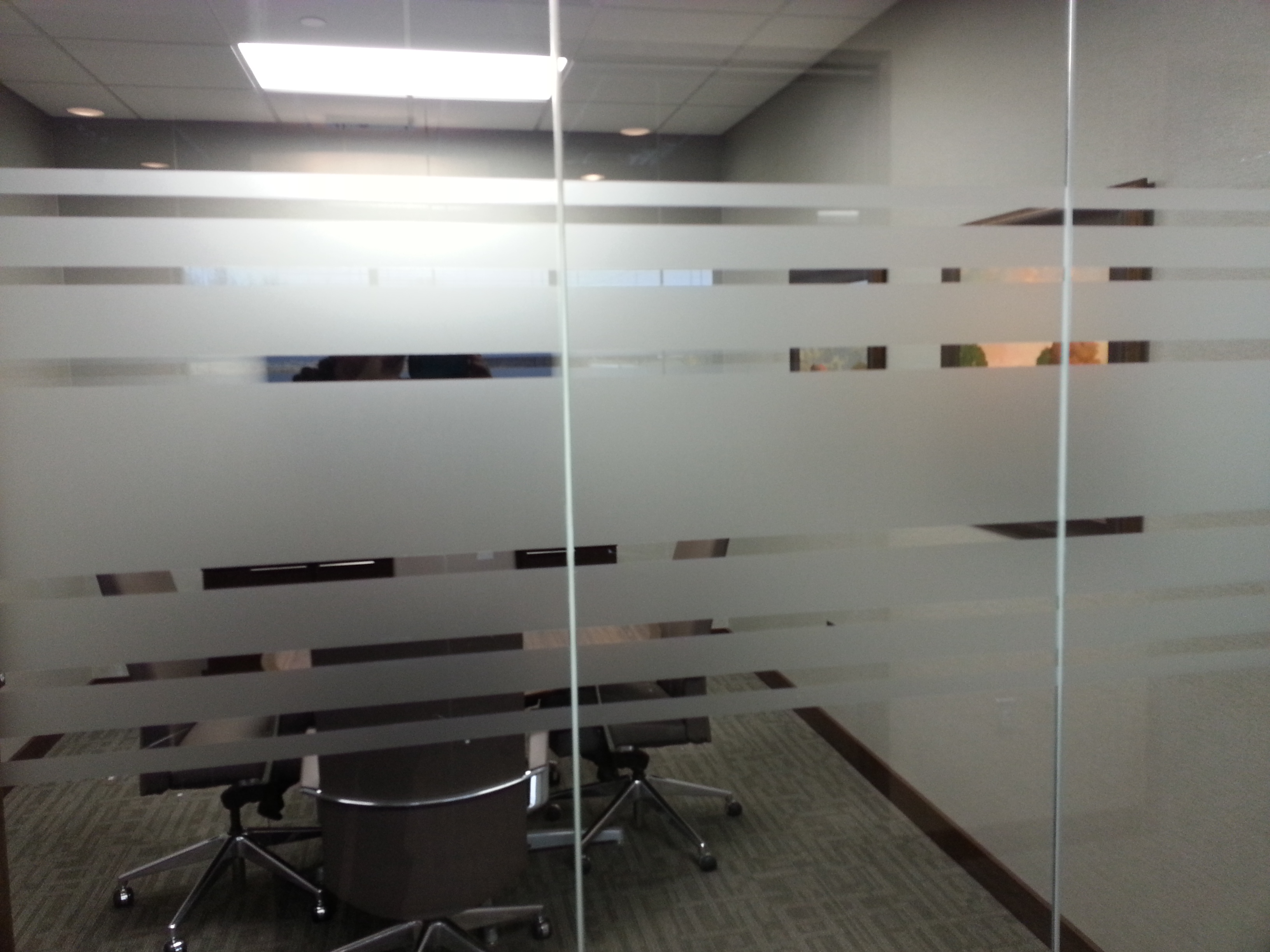 Glass Privacy Film Installed In Woodbury Mn For Bell